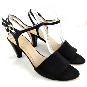 Fendi High heel sandals black double ankle strap 8
